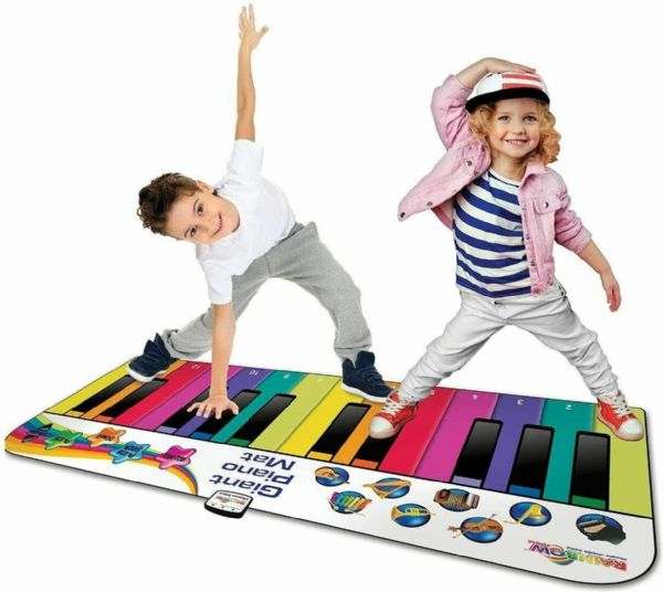 RAINBOW COLOURS 6ft GIANT PIANO DANCE MAT - Great gift